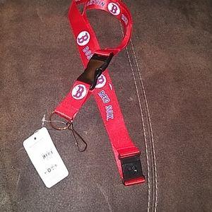 Boston Red Sox detachable lanyard new key holder